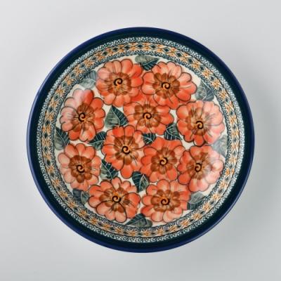 波蘭陶 艷夏扶桑系列 圓形深餐盤 22cm 波蘭手工製