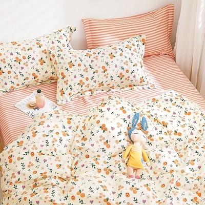 3-HO-100%純棉-單人床包/枕套組-洛可
