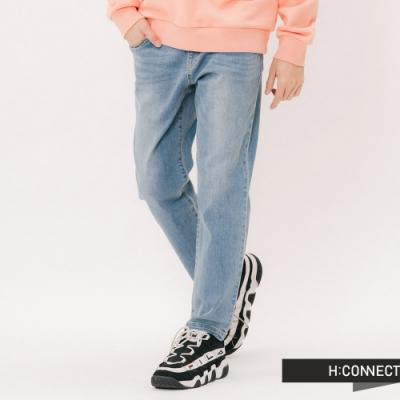 H:CONNECT 韓國品牌 男裝 -抽繩鬆緊牛仔褲 - 藍