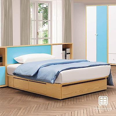 漢妮Hampton凱爾系列藍白3.5尺單人床組-106x218x84.5cm
