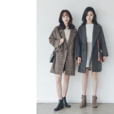 2F韓衣-氣質保暖毛呢大衣-秒