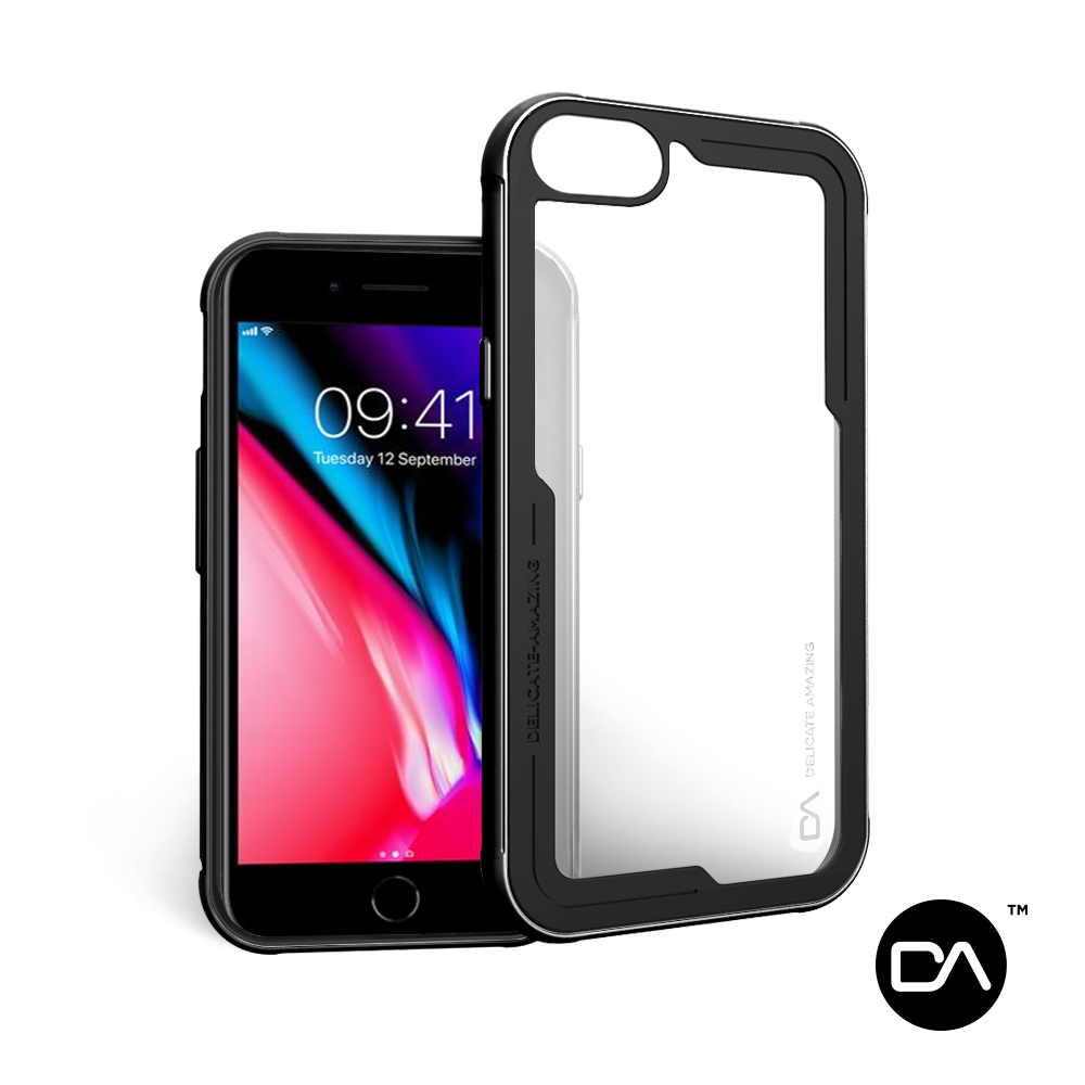 DA iPhone SE2/8/7/6/6s 鋁合金邊框防摔手機殼