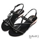 DIANA性感尤物-時尚曲線羅馬涼鞋-黑