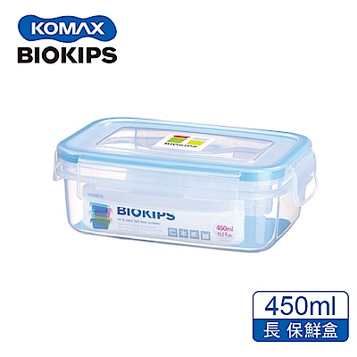 KOMAX 碧兒扣密封PP保鮮盒-長方形450ml
