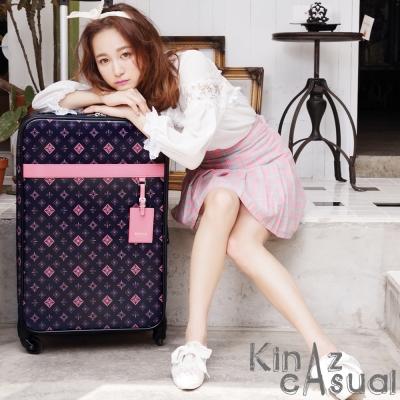 KINAZ casual旅行-24吋MIT滿版Logo行李箱