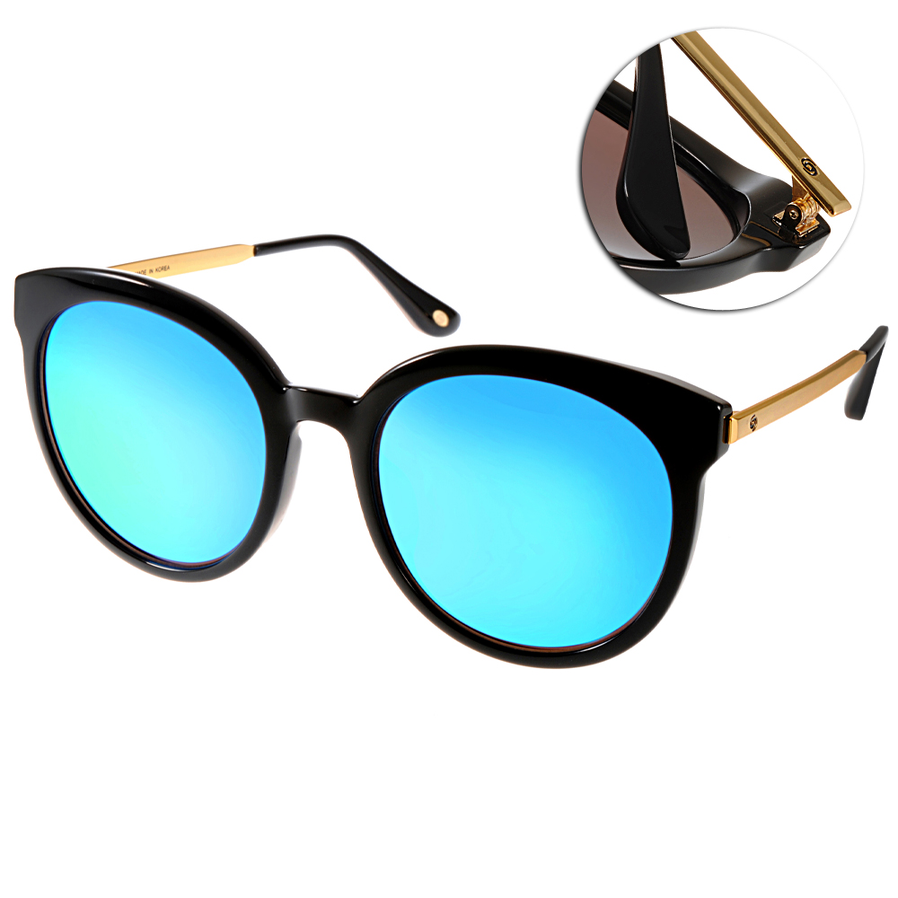 Go-Getter太陽眼鏡 貓眼大框/黑金-藍水銀#GS4002 C03