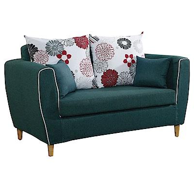 文創集 沙布拉時尚棉布獨立筒二人座沙發椅(二色可選)-147x86x87cm免組
