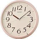 SEIKO精工 潔淨簡約時尚 掛鐘(QXA719P)-粉/28cm