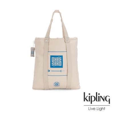 Kipling 音樂派對趣味播放器圖騰大容量手提帆布包-LOVILIA