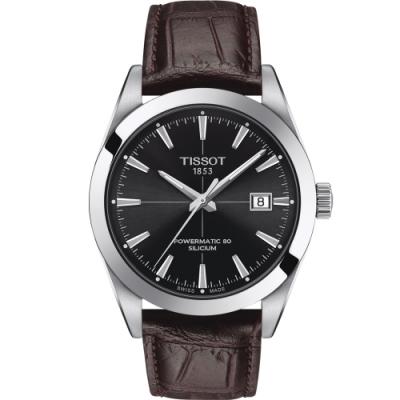TISSOT 天梭 GENTLEMAN 經典紳士機械錶(T1274071605101)40mm