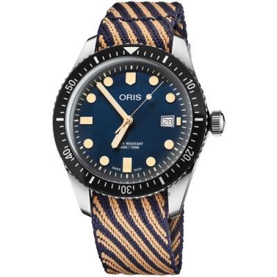 Oris豪利時 Divers Sixty-Five 特別版機械錶-藍/42mm
