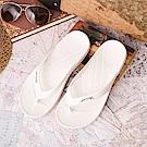 ATTA運動風簡約夾腳拖鞋-白色