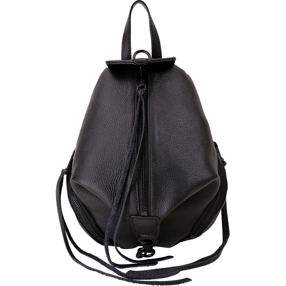 Rebecca Minkoff JULIAN 迷你款黑釦皮革後背包(黑色) @ Y!購物