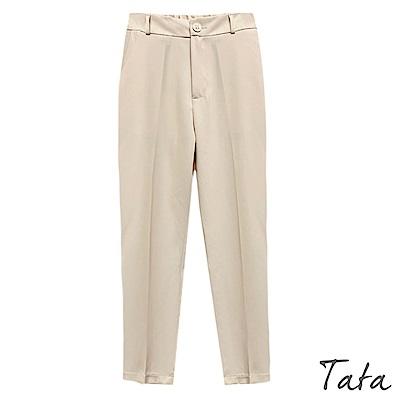 後鬆緊西裝九分褲 共二色 TATA