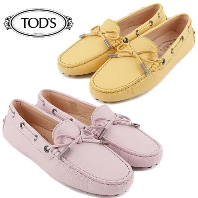 [時時樂限定] TOD'S Gommino 牛皮壓紋綁帶豆豆休閒鞋