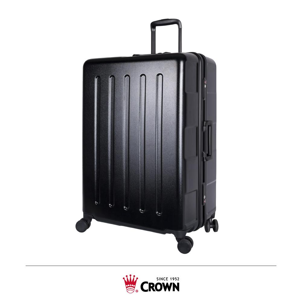 CROWN 皇冠 27吋 大容量鋁框拉桿箱 黑