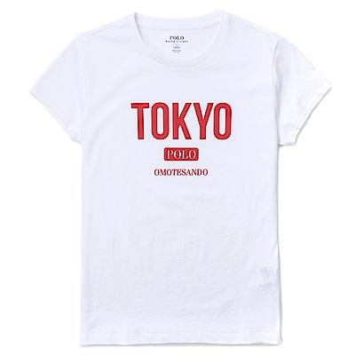 Polo Rlaph Lauren 東京文字時尚設計短袖T恤(女)-白色