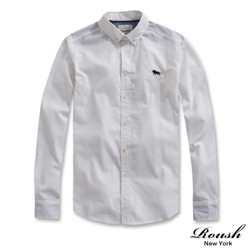 Roush 側邊織帶設計牛津布襯衫(5色)