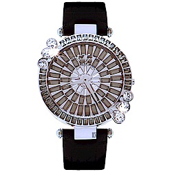 Galtiscopio迦堤 Marguerite 耀雅雛菊系列-黑灰x黑色錶帶42mm