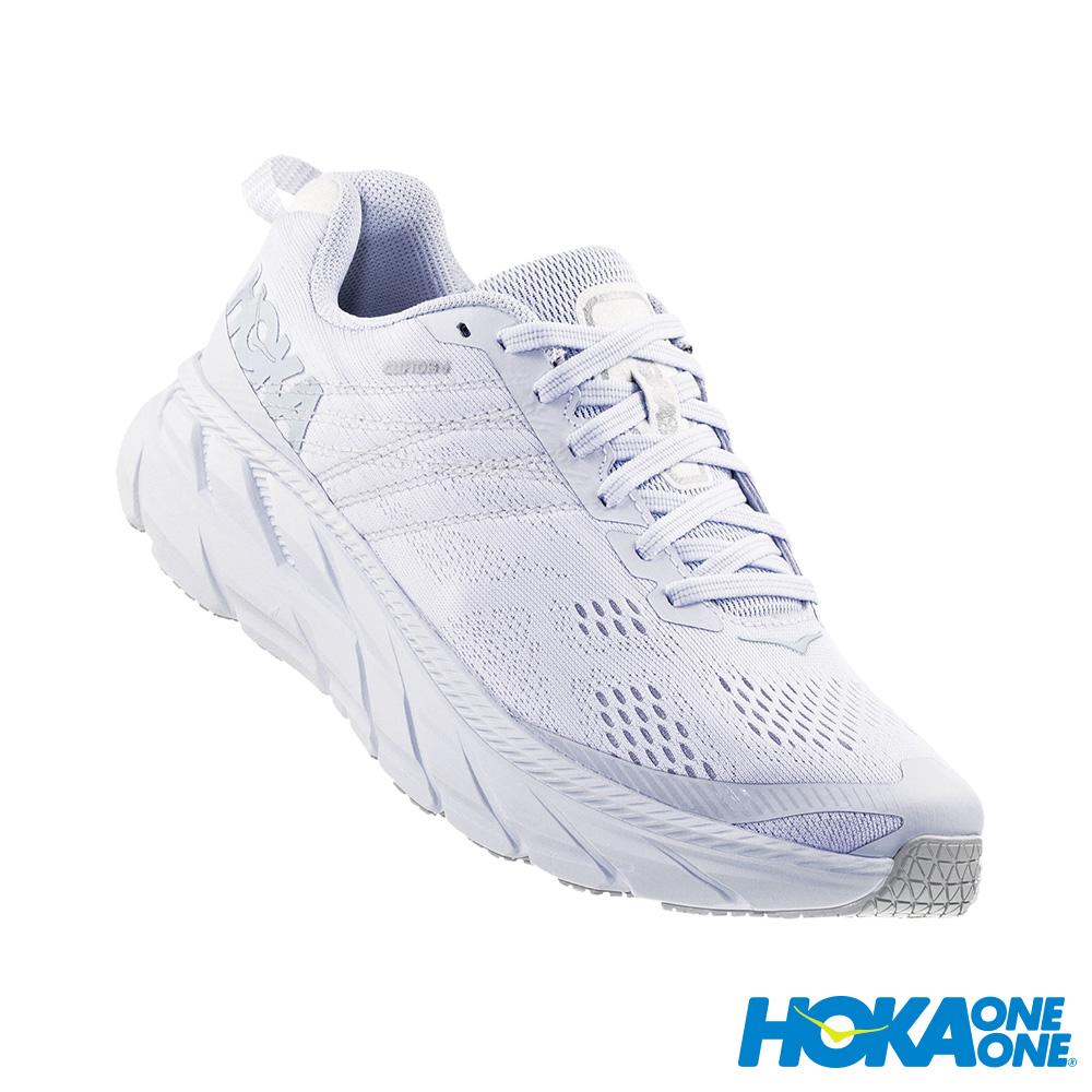 HOKA ONE ONE 女 Clifton 6 路跑鞋 白灰