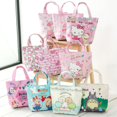 【優貝選】大人氣卡通明星PU防水 多用途便當袋/小提包/午餐包