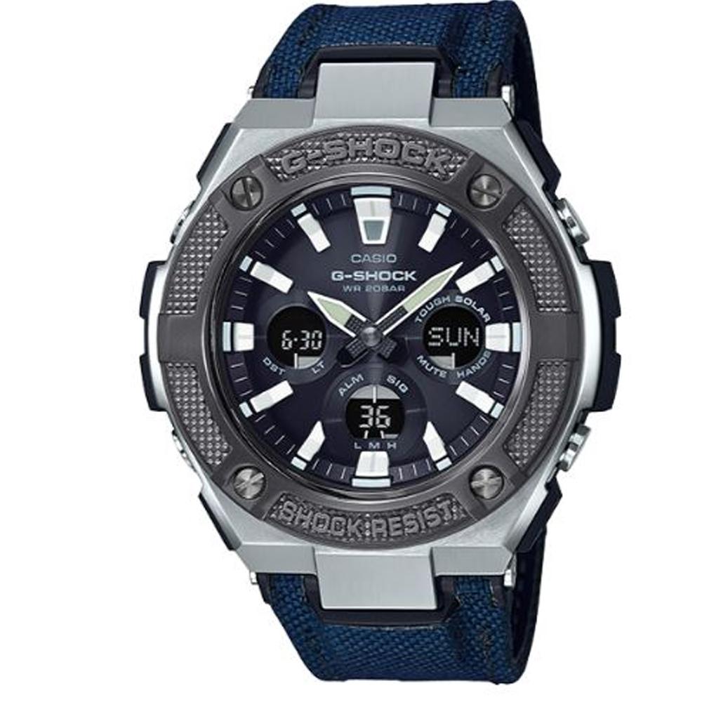 G-SHOCK 絕對強悍太陽能電力雙顯錶-藍(GST-S330AC-2A)/55.9mm