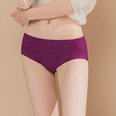 無痕透氣超健康竹炭包臀中腰M-XL內褲 桃紫狂愛 可蘭霓Clany