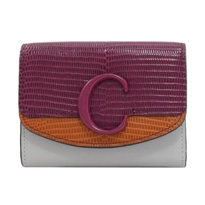 [時時樂]CHLOE C Bag系列/電繡跳馬牛皮零錢短夾(五款)