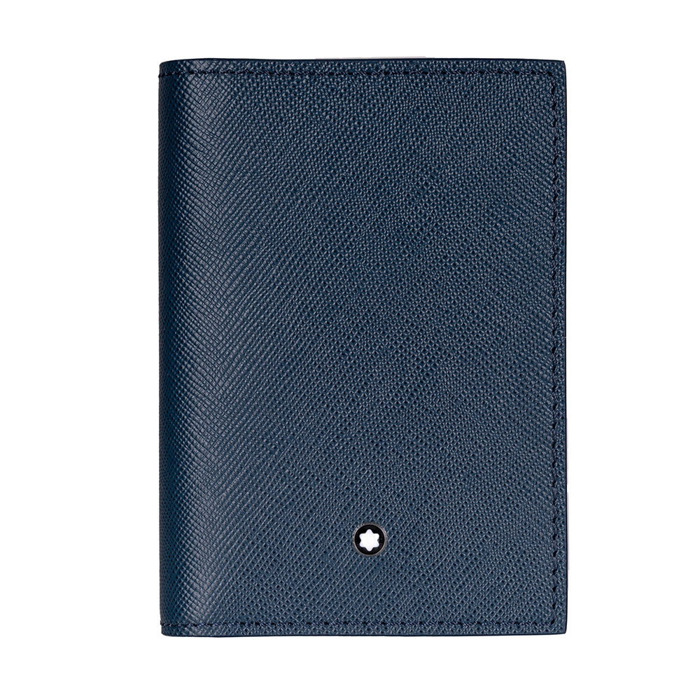 Montblanc 萬寶龍 匠心系列牛皮厚型名片夾-藍色