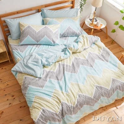 DUYAN竹漾-比利時設計-雙人加大床包枕套三件組-塞納河風光 台灣製