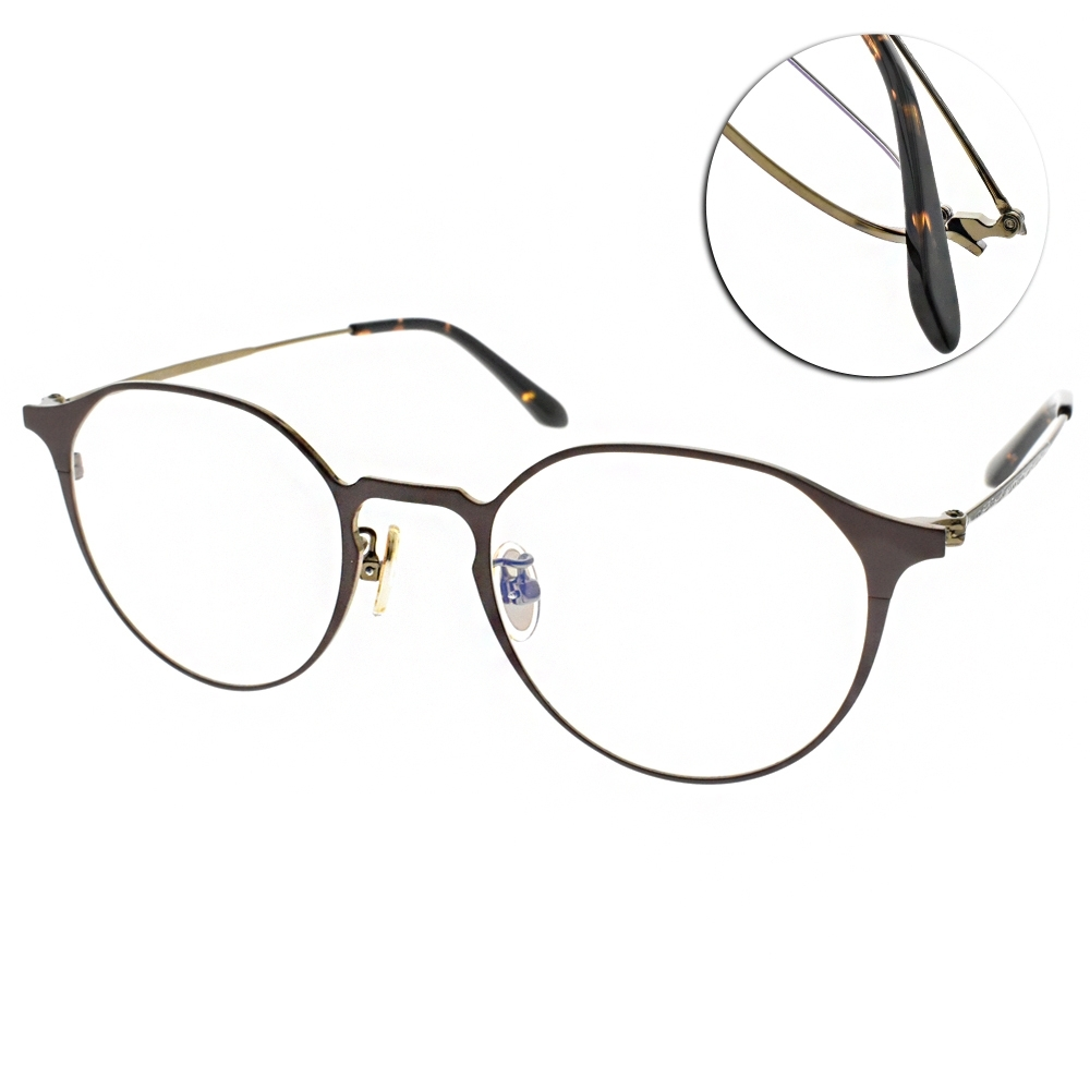 NINE ACCORD眼鏡 簡約貓眼款/棕-銅 #PLACO-FLATA1 C3