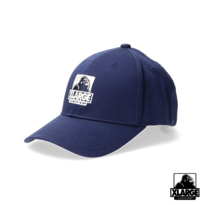 XLARGE EMBROIDERY OG 6PANEL CAP刺繡LOGO棒球帽-海軍藍
