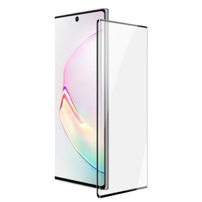 三星 Galaxy Note10 全螢幕觸控 曲面全膠 9H鋼化玻璃膜 手機 保護貼 曲面黑x1 ( Note10保護貼 Note10 )