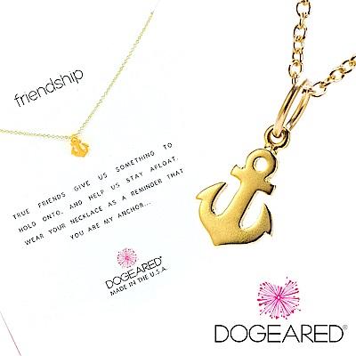 Dogeared 金色友誼船錨項鍊 Friendship 許願項鍊 附原廠盒