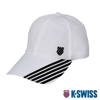 K-SWISS KS Performance Cap排汗運動帽-白