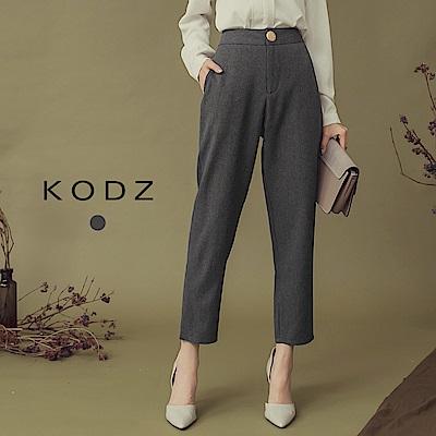 東京著衣-KODZ 氣質修身金釦修身口袋西裝褲-S.M.L(共一色)