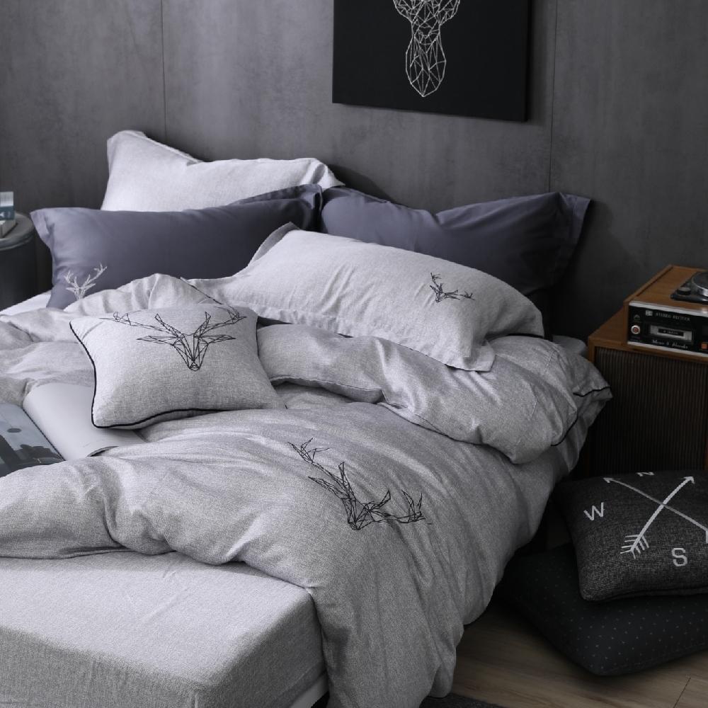 OLIVIA 路克 灰 標準雙人床包兩用被套四件組 230織天絲TM萊賽爾 台灣製