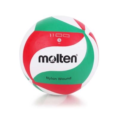 MOLTEN #5橡膠排球 Molten 白紅綠