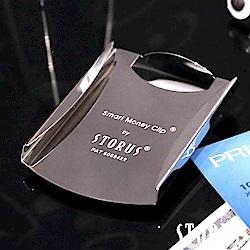 美國STORUS 聰明卡片錢夾 專利時尚設計-閃耀銀 鈔票夾 信用卡 名片夾 西裝配件