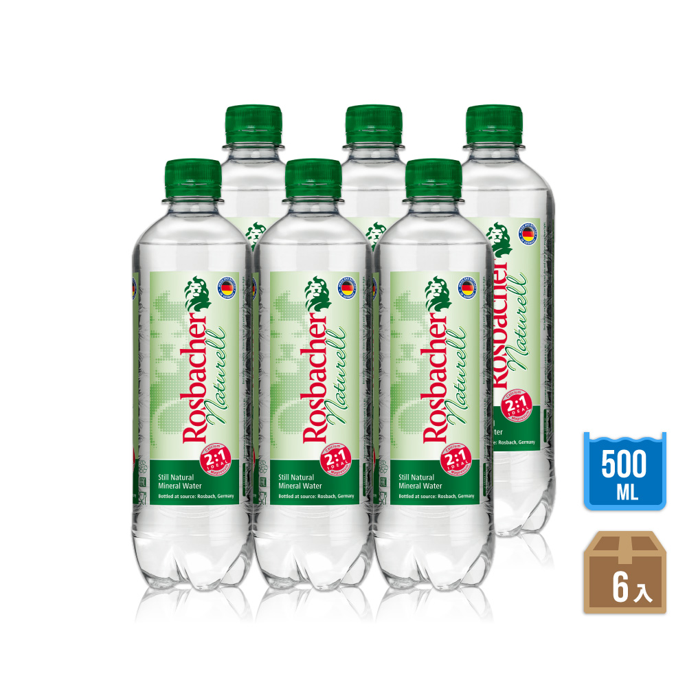 ROSBACHER 天然礦泉水(500mlx6瓶)