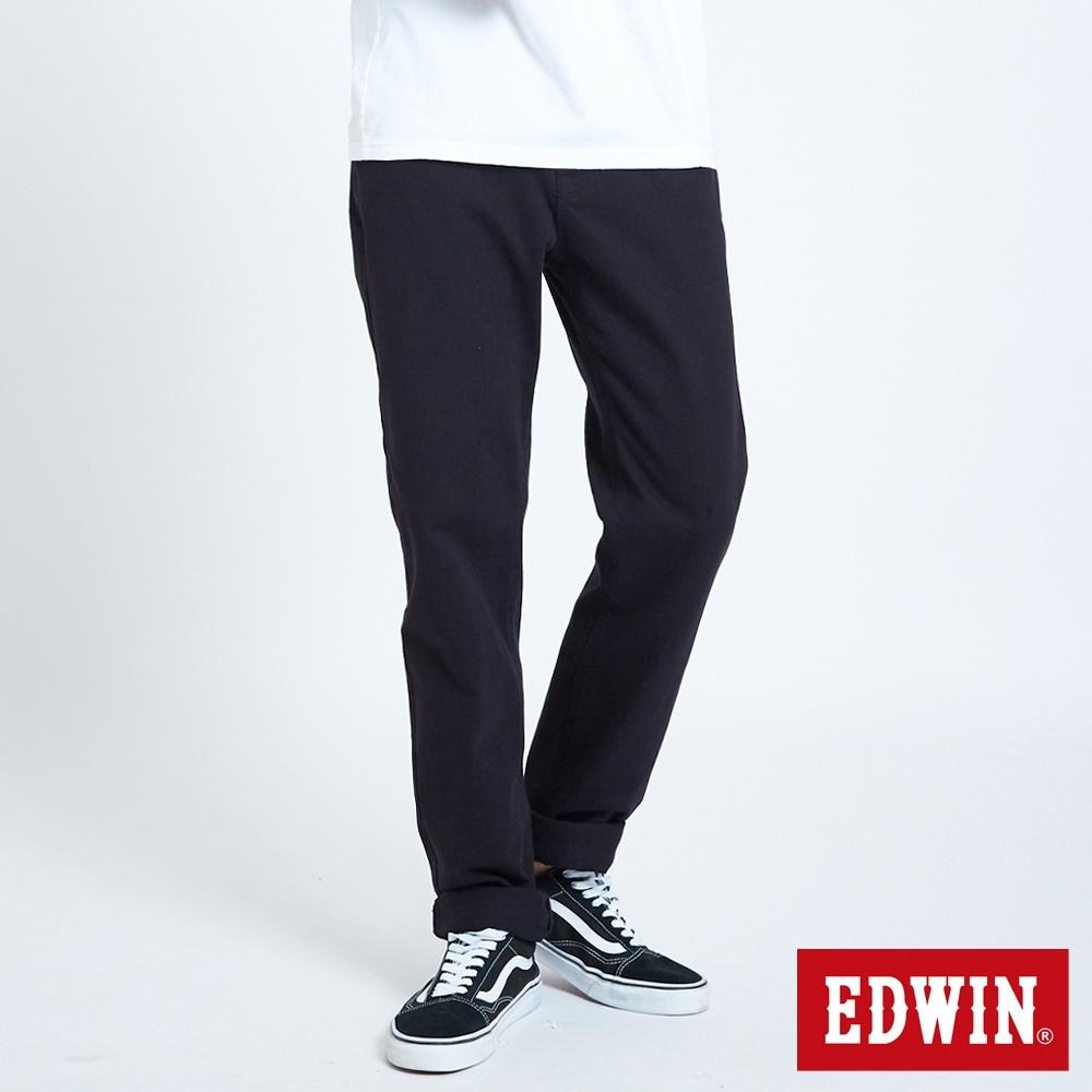 EDWIN JERSEYS EJ3棉中低腰 中直筒牛仔褲-男-黑色
