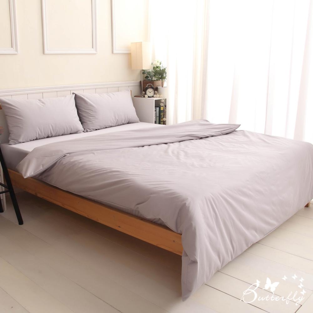BUTTERFLY-SGS專業級認證抗菌高透氣防水保潔墊-雙人床包四件組-灰色