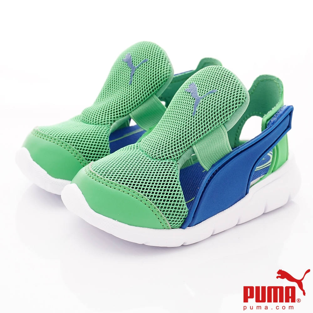 PUMA童鞋 輕量護趾涼鞋款 ON90699-03綠(小童段)