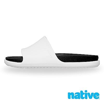 native SPENCER LX 男/女沙灘鞋-貝殼白x瞬黑