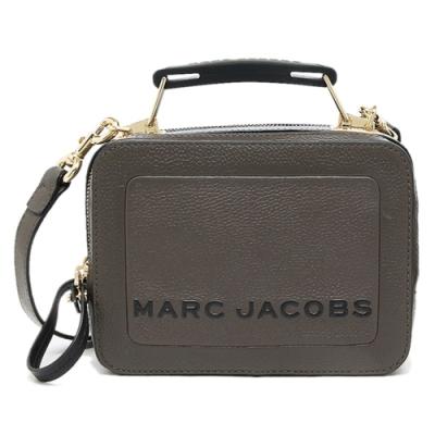 MARC JACOBS THE BOX 20 素面皮革兩用包 煙灰色