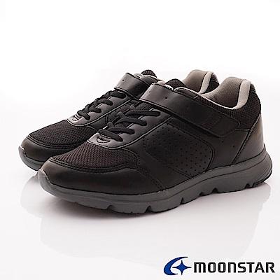 日本Moonstar戶外健走鞋-4E輕量健走鞋款-ON816黑(男段)