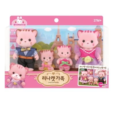 韓國 動物公仔 兔寶家族  - 小貓 LINA一家人
