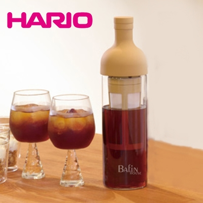 【HARIO】酒瓶冷泡咖啡壺650ml/ 焦糖色(FIC-70-MC)