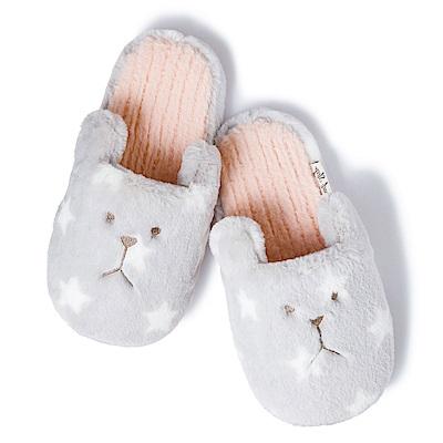 CRAFTHOLIC宇宙人 安睡時尚熊室內拖鞋