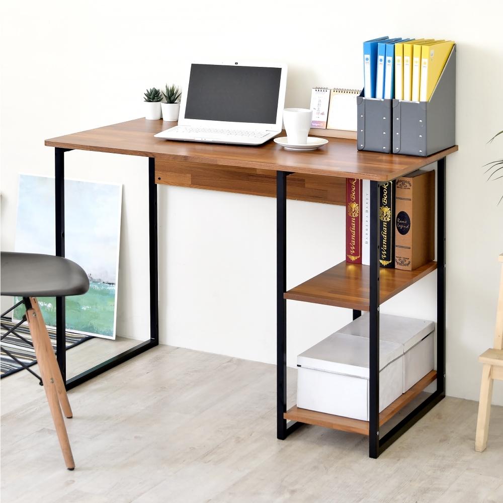 《HOPMA》DIY巧收歐森層架工作桌/書桌-寬104X深60X高74.5 cm